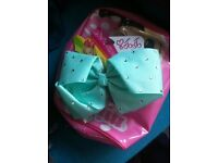 b/new mint coloured diamante large jojo siwa bow SOLD OUT IN STORE