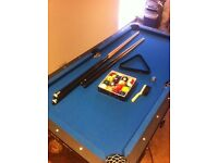 5ft deluxe folding pool table