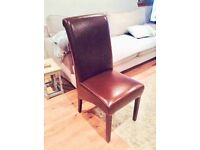 Chocolate Brown Leather Chairs