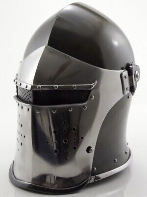 300 King Leonidas Spartan Helmet Warrior Costume Medieval Helmet LARP X-MAS Gift - 300 Leonidas Costume