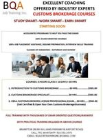 LICENSED CUSTOMS BROKERS - CBSA CUTOMS BROKERS PROFESSIONAL EXAM