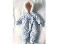Boots Mini Club Snowsuit - Newborn Up to 4.5kg (9.9lbs)