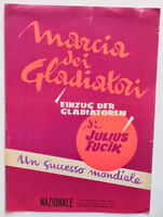 Musica Spartito - Marcia Dei Gladiatori - Canto E Pianoforte - 1957 -  - ebay.it