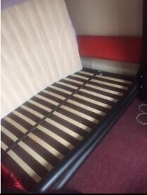 Double bed. No mattress