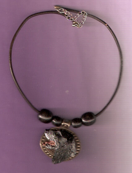 English Setter Blue Belton Necklace with Medallion and Beads Jewelry LAST ONE!