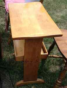Antique refinished side table for sale London Ontario image 1
