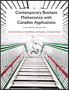 Pearson Contemporary Business Mathematics 11th edi.Textbook