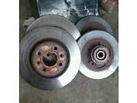 Genuine Renault clio 172 182 front and rear discs and pads with rear wheel bearings an abs rings