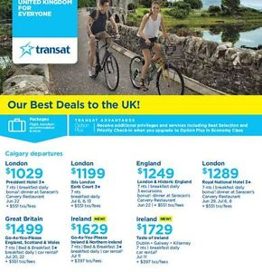 Deals to the UK! Western Canada Departures Book by June 8, 2016
