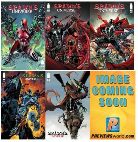 🔥 SPAWN UNIVERSE #1  🔥ALL 6 REGULAR AND VARIANT COVERS 🔥 NM 🔥