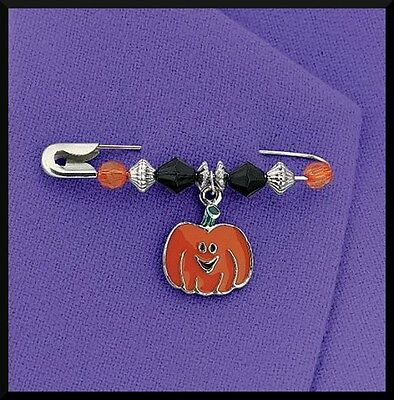 Halloween Enamel Charm Pin Craft Kit Pumpkin ABCraft Kids Jack o Lantern Favor](Halloween Pins Craft)