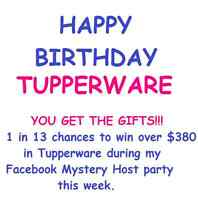 Tupperware Mystery Host online party!  $380 value to be won!!