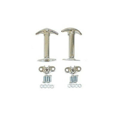 Chrome Hood Catch Latch hold down Kit Pair for Jeep CJ CJ5 CJ7 CJ8 YJ 55-95 PAIR - Hold Down Latch