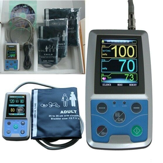 CE&FDA, Contec ABPM50 Ambulatory Automatic Blood Pressure Monitor(NIBP),3 CUFFS