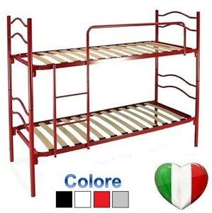 Letto a castello scomponibile completo di reti a doghe bunk bed ebay - Amici di letto completo ...