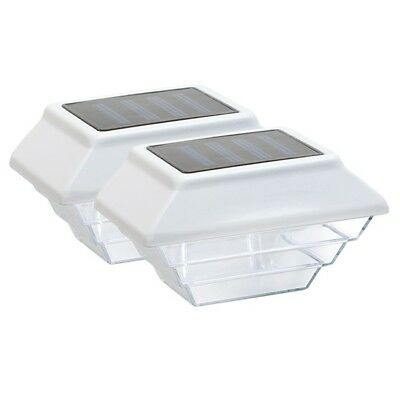 White Solar Post Light - 2 Pack