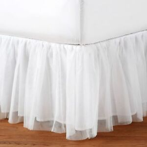 Pottery Barn Kids White Tulle Bedskirt (Twin) - Never Used.