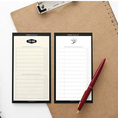 Iconic Sticky To Do List Memo Note Pad 2 Lot Post-it Index Mark For Study Office