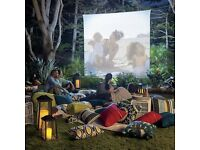 For HIRE for Home Cinema night - projector with screen. Dolby Atmos Amp & speakers also available