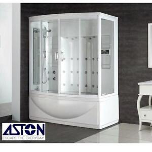 "NEW* ASTON STEAM SHOWER ENCLOSURE ZAA210-L 144878671 ZAA210 LEFT HAND WHIRLPOOL BATH TUB STALL KIT BATHTUB 68"" x 41"" ..."