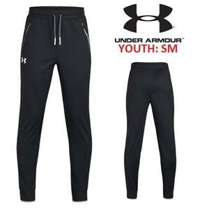 NEW UNDER ARMOUR PANTS BOYS YSM 1331691 233353625 Youth Pennant Tapered-Leg Pants Kids Black