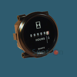 Hour-Meter-6-to-80-Volts-DC-Round-Black-Trim-Ring