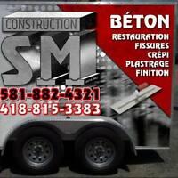 Réparation de Solage ( DRAIN FONDATION>BÉTON>FISSURE>CREPIS)