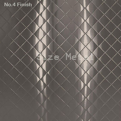 Food Truck Restaurant Quilted Stainless Steel Sheet 4 Finish 24ga X 4 X 8