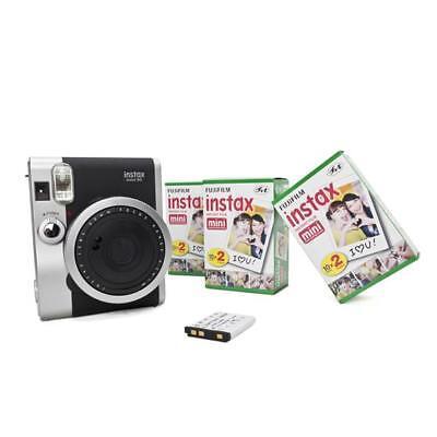 Fuji Instax Mini 90 neo classic + 6 Filme und Zusatzakku Sofortbild Hochzeit