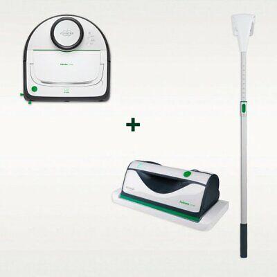 Robot Aspirapolvere Folletto VR300 + Lavavetro Folletto VG100 con Prolunga