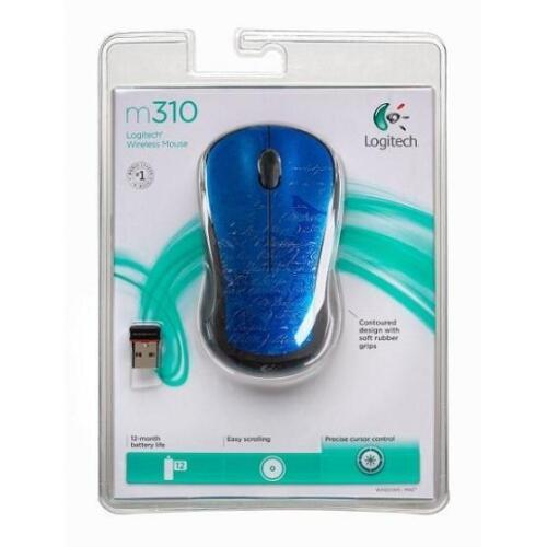 New Logitech M310 Indigo Scroll Wireless Mouse 910-002482