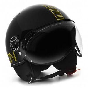 MOMO FGTR Black Scooter Helmets - XXS, XS, S, M