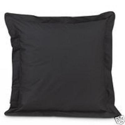 2 BLACK  EURO or EUROPEAN   PILLOW SHAMS MADE IN USA ()
