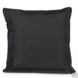 2-BLACK-EURO-or-EUROPEAN-PILLOW-SHAMS