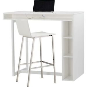 "white 42"" high dining table / Computer Desk Convertible"
