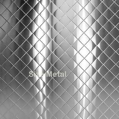 Food Truck Restaurant Chrome Quilted Stainless Steel Sheet 22ga 4 X 10