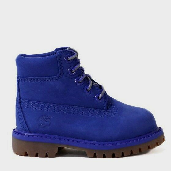 "Timberland Toddler's 6"" Premium Waterproof Boots NEW AUTHENTIC Blue A1P6K"