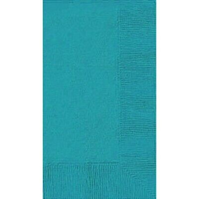 TURQUOISE (50) BANQUET DINNER PAPER NAPKINS Party Supplies!! For Any Party!  - Turquoise Party Supplies