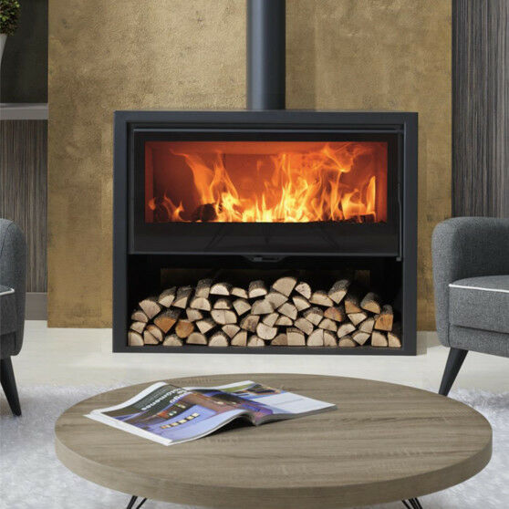 Allegro Wide Wood Burning Multi Fuel Stove Contemporary 8426964180206 Ebay