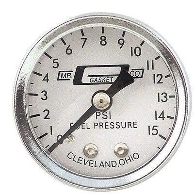"Mr. Gasket 1561 1-1/2"" Fuel Pressure Gauge 0-15 Psi Non-Liquid Filled"