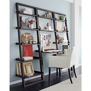 Crate and Barrel Leaning Desk/Bookcase
