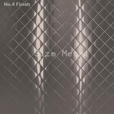 Food Truck Restaurant Quilted Stainless Steel Sheet4 Finish24ga X 4 X 10