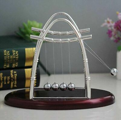 Newtons Cradle Balance Steel Ball Physics Science Pendulum Nice Desk Decor Gift
