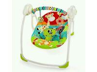 Brightstarts portable baby swing
