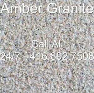 Beige Granite Wall Coping Amber Step Tread Coping Risers