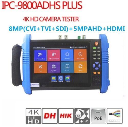 "4K 7"" IP Analog TVI CVI SDI AHD HDMI CCTV Tester Monitor IPC-9800ADHS Plus US"