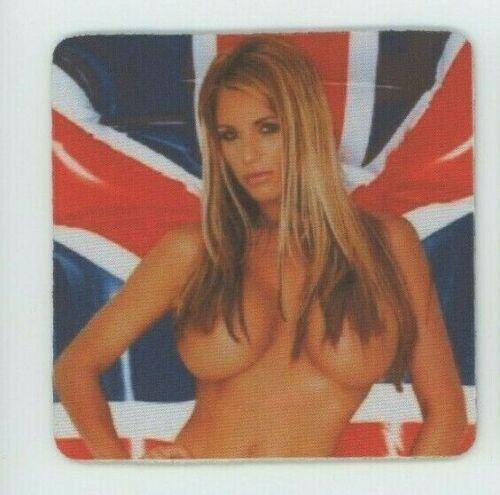 Sexy British Union Jack Blonde girl COASTER  - OMG