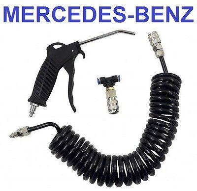 Druckluftpistole Ausblaspistole mit Schlauch Schwarz KFZ/LKW MERCEDES BENZ
