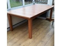 IKEA Extending solid pine wood table large seats 12