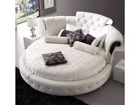 Hurry up Now!! Extra 15% on Romantica Round Chesterfield Style Bed Today